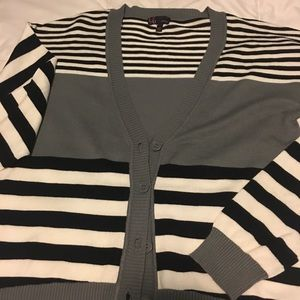 Sweaters - Women's button down sweater striped size medium